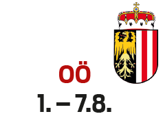 Oberösterreic 1. - 7.8.h