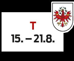 Tirol 15. - 21.8.